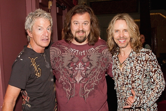 Kevin Cronin, Tad Wilson, and Tommy Shaw