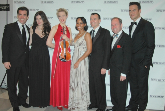 Brian d'Arcy James,  Idina Menzel, Sara Caswell, Anika Noni Rose, William Schermerhorn, Stephen Flaherty and Cheyenne Jackson