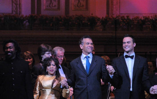 Nick Ashford, Valerie Simpson, Brian Stoked Mitchell and Cheyenne Jackson