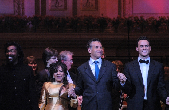 Nick Ashford, Valerie Simpson, Brian Stoked Mitchell and Cheyenne Jackson at NY POPS Honors 'Feinstein's at Loews Regency' at Carnegie Hall