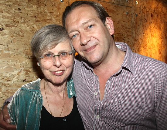 Sybille Pearson and Michael John LaChiusa at Photo Coverage EXCLUSIVE: 'GIANT' Dress Rehearsal Party
