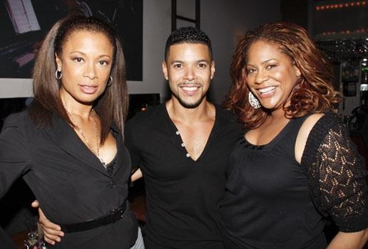 Valarie Pettiford, Wilson Cruz and Kim Coles at Upright Cabaret