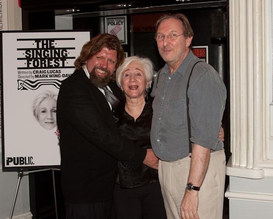 Oskar Eustis, Olympia Dukakis and Mark Wing-Davey