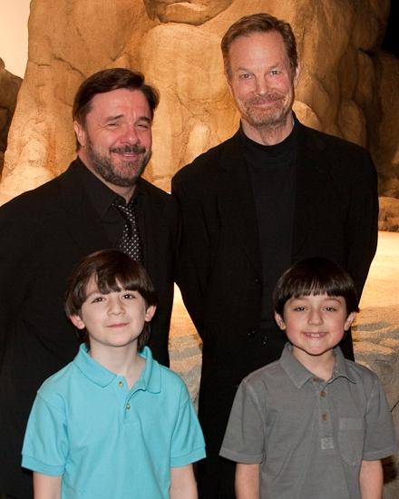 Nathan Lane, Matthew Schechter, Bill Irwin and Cameron Clifford