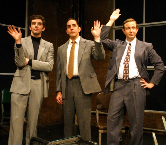 Tom Beckett, Michael Urie and Matthew Schneck