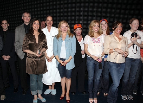 Wayne Schroder, Stephanie J. Block, Allison Janney, Megan Hilty, Kathy Fitzgerald, Jennifer Balagna, Autumn Guzzardi and the cast