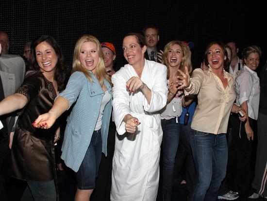 Stephanie J. Block, Allison Janney, Megan Hilty, Kathy Fitzgerald, Jennifer Balagna, Autumn Guzzardi and the cast