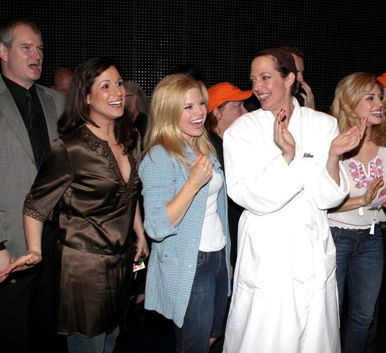 Wayne Schroder, Stephanie J. Block, Megan Hilty, Allison Janney, Kathy Fitzgerald and Autumn Guzzardi