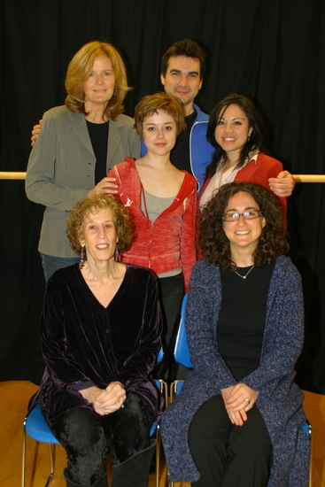 Jordan Baker, Dan Domingues; (middle row) Lauren Ashley Carter, Maria-Christina Oliveras; (seated front row) Susan Yankowitz, Daniella Topol