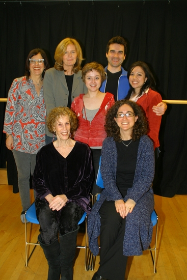National Aphasia Association Executive Director Ellayne Ganzfried, Jordan Baker, Dan Domingues; (middle row) Lauren Ashley Carter, Maria-Christina Oliveras; (seated front row) Susan Yankowitz, Daniella Topol at NIGHT SKY At Baruch Performing Arts Center
