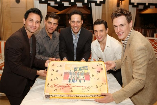 Travis Cloer, Deven May, Jeff Liebow, Rick Faugno, and Erich Bergen