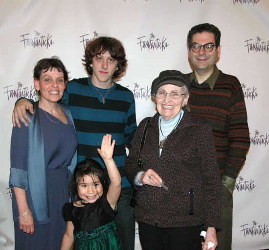 The family of Lore Noto-daughter Janice Noto-Helmers, grandchildren Kaia and Collin, wife Mary Noto and Michael Musto of The Village Voice