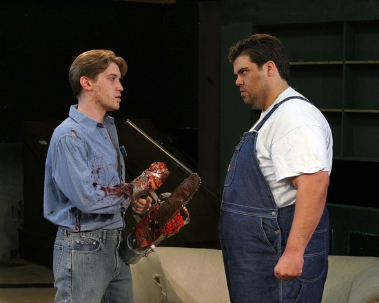 Dan Folino and Patrick Ciamacco at Evil Dead The Musical At Studio Theatre