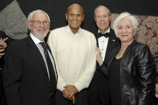 Norman Jewison, Harry Belafonte, Daniel Sullivan and Olympia Dukakis