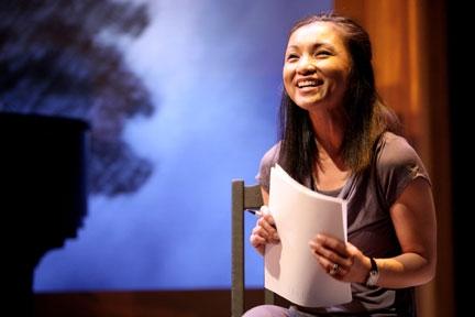 Jennifer Paz as Cathy--from broadwayworld.com