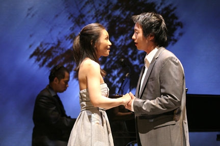 The wedding scene in THE LAST FIVE YEARS--from broadway.com