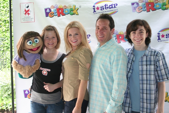 Kate Monster, Carey Anderson, Megan Hilty, Joel Rozenzweig (President I-Star Entertainment) and Henry Hodges