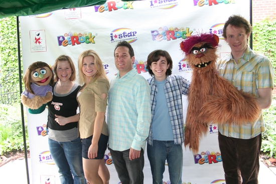 Kate Monster, Carey Anderson, Megan Hilty, Joel Rozenzweig (President I-Star Entertainment),  Henry Hodges, Trekkie Monster and Christian Anderson