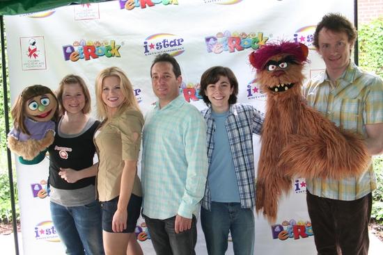 Kate Monster, Carey Anderson, Megan Hilty, Joel Rozenzweig (President I-Star Entertainment),  Henry Hodges, Trekkie Monster and Christian Anderson