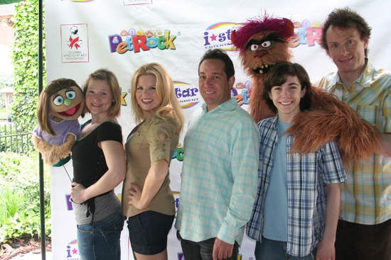 Kate Monster, Carey Anderson, Megan Hilty, Joel Rozenzweig (President I-Star Entertainment), Trekkie Monster,  Henry Hodges, and Christian Anderson