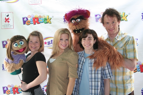 Kate Monster, Carey Anderson, Megan Hilty, Trekkie Monster,  Henry Hodges, and Christian Anderson