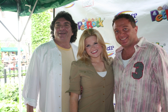 Marty Abrams, Megan Hilty and Johnny Rock