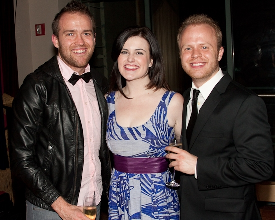 Adam Cunningham and Rachel Helson with singer Seth Grugle