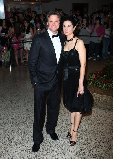 Colin Firth with wife, Livia Giuggioli