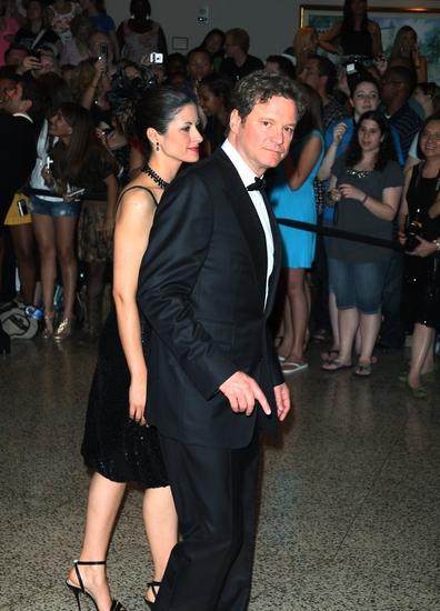 Colin Firth with wife, Livia Giuggioli