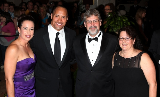 Dwayne Johnson & wife Dany Garcia with Captain Richard Phillips & wife