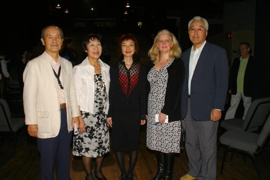 Mr. Hiro Iso, Ms. Toshiko Tanaka, Playwright Chiroi Miyagawa, Director Jean Eagner, and Mr. Takehisa Yamamoto