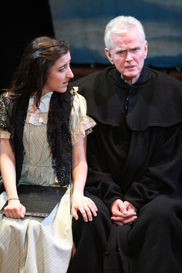 Natalie Caruncho and James Caulfield at Milk Can Theatre Co's GALILEO