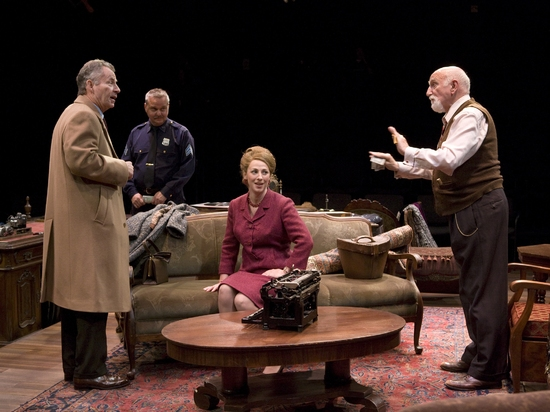 James Sutorius, Andy Prosky, Leisa Mather and Dominic Chianese at The Price At The Old Globe