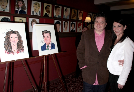 Photo Coverage: 'GUYS and DOLLS' Stars Lauren Graham and Oliver Platt Join the Sardi's 'Wall of Fame'
