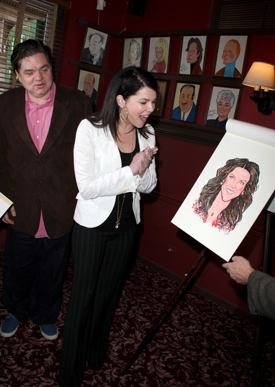 Oliver Platt and Lauren Graham
