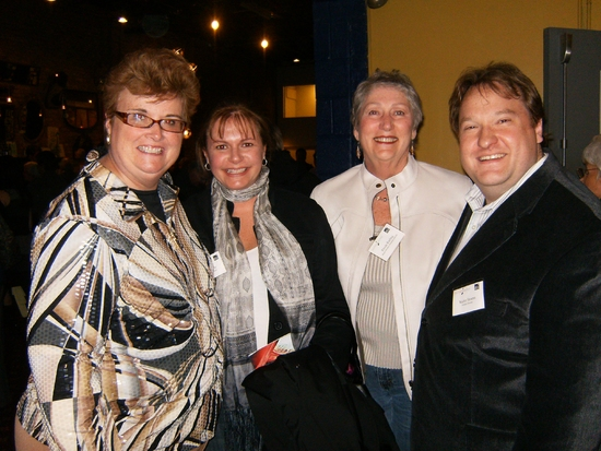 Porchlight Music Theatre Board Secretary Mary Kay Conley, Board President Jeannie Lukow, Board member Rhoda Reeling and Porchlight Music Theatre Artistic Director Walter Stearns