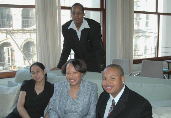 Irene Florence Wong, Lisabette Ware, Jerome Ware Jr. and Kejon Taylor