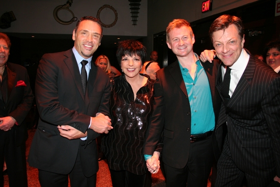Tiger Martina, Liza Minelli, Johnny Rogers and Jim Caruso