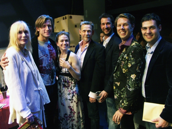 Sally Kellerman, P.J. Griffith, Hedy Burress, Dennis Christopher, Noah Wyle, Daniel Henning and Andrew Leeds at Mark Saltzman's Opening Night Party For SETUP & PUNCH