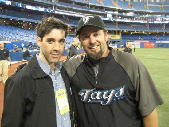 Jeff Madden and Toronto Blue Jay Kevin Millar
