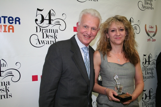 Tom Viertel and Sonja Friedman - Outstanding Revival of a Play: The Norman Conquests   at 2009 Drama Desk Awards Press Room