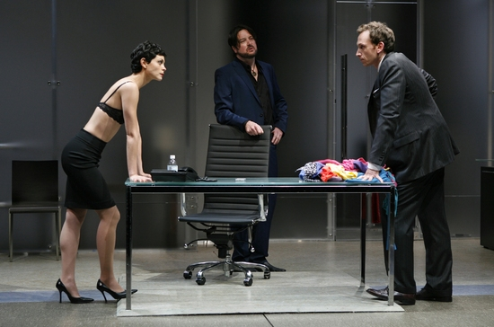 Morena Baccarin, Christopher Evan Welch and Stephen Kunken