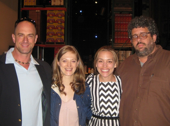 Christopher Meloni,  Marin Ireland, Piper Perabo and Neil LaBute at The Stars Visit REASONS TO BE PRETTY