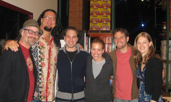 Terry Kinney, Penn Jillette, Thomas Sadoski, Piper Perabo, Steven Pasquale and Marin Ireland at The Stars Visit REASONS TO BE PRETTY