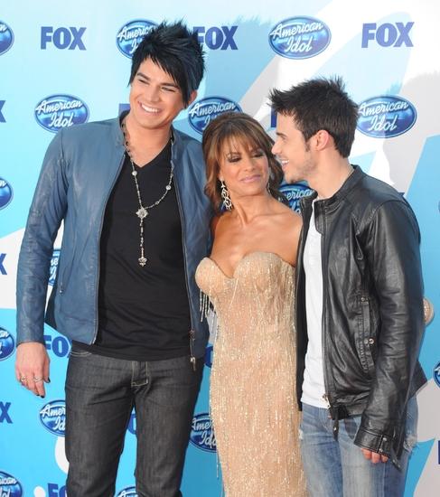 Adam Lambert, Paul Abdul, and Kris Allen