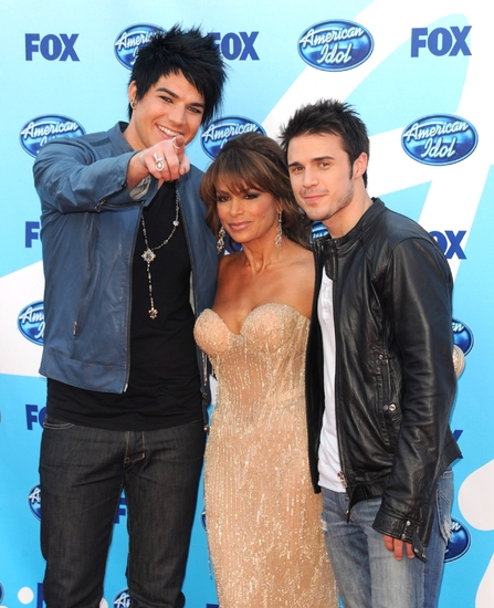 Adam Lambert, Paul Abdul, and Kris Allen