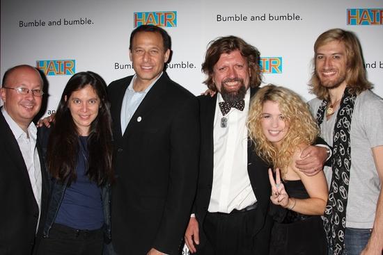 Andy Hamingson (Public Theater), Diane Paulus, Peter Lichtenthal, Oskar Eustis, Kacie Sheik and Bryce Ryness
