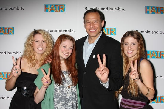 Kacie Sheik, Allison Case, Peter Lichtenthal (President Bumble and bumble) and Caissie Levy