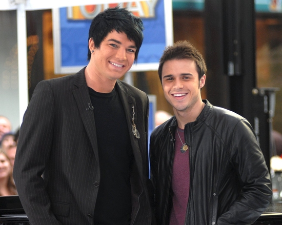 Adam Lambert and Kris Allen at 'IDOL' Stars Kris Allen and Adam Lambert Visit NBC's Today Show