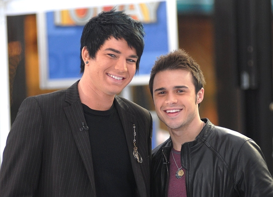 Photo Coverage: 'IDOL' Stars Kris Allen and Adam Lambert Visit NBC's Today Show